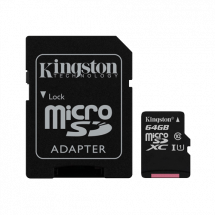 KINGSTON Canvas Select MicroSDXC 64GB + Adapter class 10 UHS-I - SDCS/64GB  microSD, 64GB, UHS U1