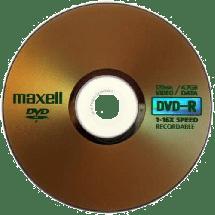 MAXELL DVD-R 4.7GB 1/1 papirno pakovanje  DVD-R, 4.7 GB, do 16x