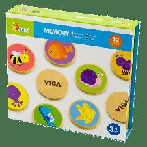 VIGA Drveni memori - životinje  Igre memorije, Univerzalno, 3+ godina, Drvo