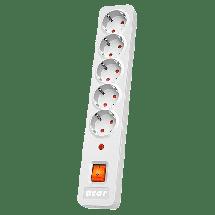 ACAR naponski produžni kabl X5 (Sivi)  5 utičnica, 1,5m