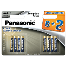 PANASONIC Everyday Power  Alkalna baterija, AAA (LR3), 8/1
