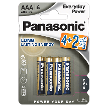 PANASONIC Everyday Power  Alkalna baterija, AAA (LR3), 6/1