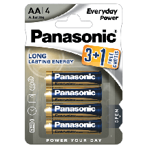 PANASONIC Everyday Power 3+1 gratis - LR6EPS  Alkalna baterija, AA (LR6), 4/1