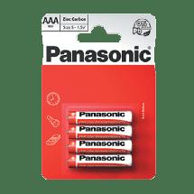 PANASONIC Zinc Carbon R03RZ  Zinc–carbon baterija, AAA (LR3), 4/1