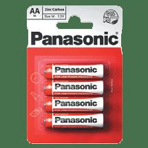 PANASONIC Zinc Carbon R6RZ  Zinc–carbon baterija, AA (LR6), 4/1