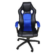 AH SEATING gejmerska stolica DS-088-B (Crna/Plava)  do 100 kg, Eko koža, platno