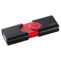KINGSTON usb memorija DATA TRAVELER 106 - DT106/32GB  USB 3.1, 32GB, do 100 MB/s, Crna/crvena