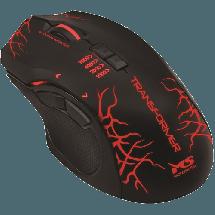MS INDUSTRIAL gejmerski miš TRANSFORMER PRO  Optički, 5700dpi, Ergonomski dizajniran, Crna/Crvena