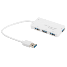 E-GREEN USB hub 3.0 4 port - KON00308  4 x USB-A 3.0  , USB 3.0 - A, Bela