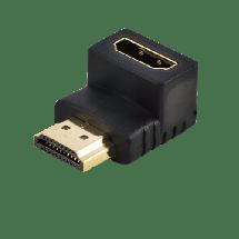 LINKOM adapter HDMI 90°- 126,  HDMI 1.4 (4K @30fps), HDMI A - muški, HDMI A - ženski, Adapter bez kabla