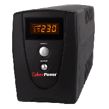 CYBERPOWER UPS VALUE600EILCD  600VA / 360W, Line-Interactive, 165-280 VAC, 230VAC +/-10%