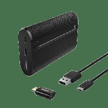 HAMA Power bank / eksterna baterija X7 Power Pack + Tip C adapter  7800 mAh, 1 x Micro USB, 1 x USB Tip C, 1 x USB A, Li-Ion, Crna