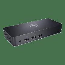 DELL Ultra HD Triple Video Docking Station USB 3.0- D3100  USB-C, 3 x USB 3.0, 2x USB 2.0, LAN, 2x HDMI, DisplayPort, audio izlaz, 1x slušalice, Crna