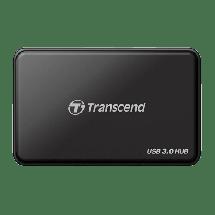 TRANSCEND USB hub USB 3.0 4 port - TS-HUB3K  4 x USB-A 3.0  , Crna