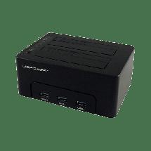 "LC POWER HDD docking station - LC-DOCK-U3-HUB  2.5"" ili 3.5"", SATA I / II / III, USB 3.0, Plastika"