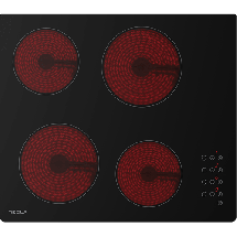 TESLA Ugradna ploča HV6400MB  Crna, Staklokeramička, Senzorsko upravljanje (Na dodir)