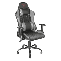 TRUST gejmerska stolica GXT 707G RESTO (Crna/Siva)  do 150 kg, Eko koža, tkanina