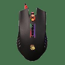 A4 TECH gejmerski miš Bloody Gaming Neon X Glide Q81  Optički, 3200dpi, Simetričan, Crna