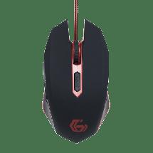 GEMBIRD gejmerski miš MUSG-001-R (Crna/Crvena)  Optički, 2400dpi, Ergonomski dizajniran, Crna