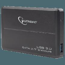 """GEMBIRD eksterno kućište za HDD - EE2-U3S-2  2.5"""", SATA I / II / III, Aluminijum, Crna"""