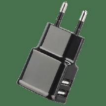 PROMATE Dual Hype-EU (Crna) - GPS00723,  Kućni punjač, USB Tip A, 5 V, 2 A