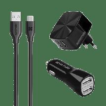 PROMATE uniCharger - GPS00727,  Kit (kućni + auto punjač), USB Tip A, 5 V, 2.4 A