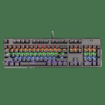 TRUST Gejmerska tastatura GXT 865 ASTA (Crna)  USB, Mehanički tasteri, GXT Red, EN (US)