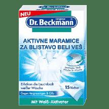 DR. BECKMANN Aktivne maramice za blistavo beli veš,  Za pranje veša