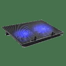 """MS Postolje za hlađenje laptopa Freeze Dual  2 - 7""""- 0161299  15.6"""", 17.1"""", 1000 RPM, Crna"""