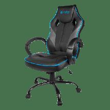 FURY gejmerska stolica AVENGER M (Crna/Plava) - NFF-1354  do 150 kg, Eko koža, tkanina