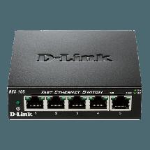 D-LINK Switch DES-105  Neupravljivi, 5 RJ-45 portova, 2K, 1Gbps