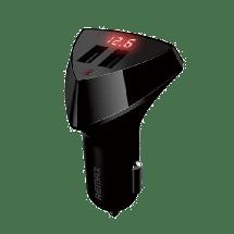 REMAX Auto punjač Fast Aliens  Auto punjač, 5 V, 3.4 A, Crna