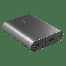 TRUST Power bank / eksterna baterija Luco Metal  10000 mAh, 1 x Micro USB, 2 x USB A, Li-Ion, Srebrna