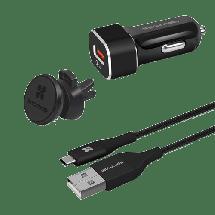 PROMATE AutoGear-QC3  Auto punjač, QC 3.0 USB, Crna