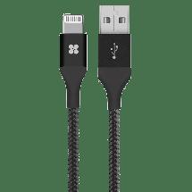 PROMATE LTF Lightning USB kabl, 1.2m (Crni) - GPS00719,  USB 2.0 - do 480 Mbps, USB-A, Lightning, Okrugli