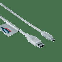 HAMA Mini USB kabl 1.8m (Sivi) - 41533,  USB 2.0 - do 480 Mbps, USB-A, Mini USB-B (5pin), Okrugli