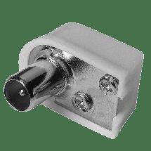 HAMA Antenski džek - muški, ugaoni - 00122479,  RF (antenski) - muški, Mesto za kabl, m/kabl, Bela