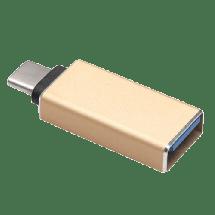 FAST ASIA USB adapter USB C - USB A m/ž (Zlatni),  USB 3.1 gen1 - do 5Gbps, USB-C, USB-A, Adapter bez kabla