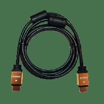 LINKOM HDMI kabl 2.0 4K, 1.8m Pozlaćen (Crni),  HDMI 2.0 (4K @60fps), HDMI A - muški, HDMI A - muški, Okrugli