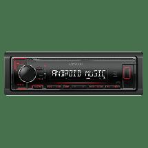 KENWOOD KMM-104RY,  Tjuner/USB/AUX, MOSFET 4 x 50W, MP3, WMA, WAV, FLAC, 1 DIN