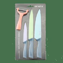 TEXELL set 3 noža i ljuštač TNT-S238  Nerđajući čelik/Termoplastična guma