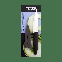 TEXELL keramički nož sa zaštitnom futrolom TNK-U115 (Crni/Sivi)  Keramički nož sa zaštitnom futrolom, 12.8 cm, Keramika/Termoplastična guma, Crna/Siva