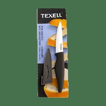 TEXELL keramički nož sa zaštitnom futrolom TNK-U114 (Crni/Sivi)  Keramički nož sa zaštitnom futrolom, 10.2 cm, Keramika/Termoplastična guma, Crna/Siva