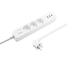 XIAOMI produžni kabl, Mi Power Strip 3xUSB 3xoutlet - XMCXB04QM,  Monofazna, 3 utičnice