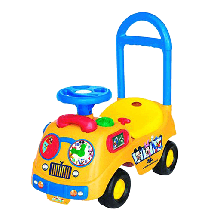 KIDDIELAND TOYS Igračka guralica Mickey school bus  Guralica, Univerzalno, 12-24 meseca, Plastika