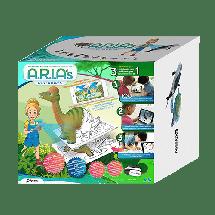WISE TOYS Arias 3D edukativni set dinosauri  8+ godina, Impregnirani karton