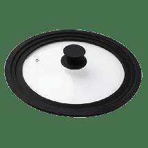 TEXELL poklopac za tiganj TSL-234 (Siva)  Silikonska drška i obruč, 24/26/28cm , Siva