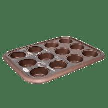 TEXELL modla za mafine i projice Chocolate Line TPCH-M240 (Braon)  Modla za mafine i projice, Karbon čelik, Braon
