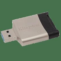 KINGSTON USB 3.0 MobileLite G4 Multi-card Reader - FCR-MLG4  Čitač kartica, USB 3.0 - kompatibilan sa 2.0, Crna/Srebrna