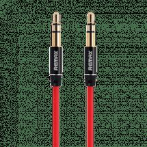 REMAX AUX audio kabl L100, 3.5mm na 3.5mm, 1m (Crveni),  3.5 mm, 3-pina, 3.5 mm, 3-pina, m/m, Crvena